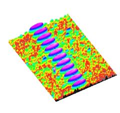 Рис.1:Сделанное интерферометром изображение торца наконечника, демонстрирующее лунки в 12 сердцевинах