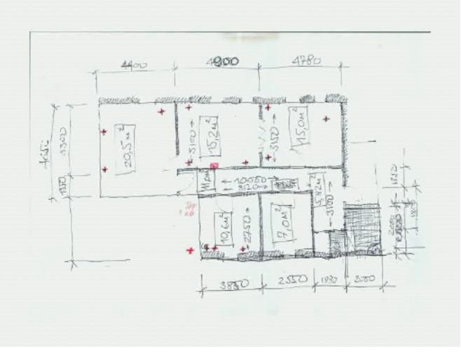 Схема помещений и расположения рабочих мест на объекте.