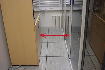 Ошибка размещения телекоммуникационного шкафа и мебели