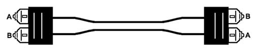 Рисунок 11 — Волоконно-оптический коммутационный шнур типа 568SC